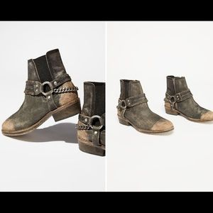 Free People Washed black boots